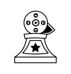 Movie industry trophy awards outline vector