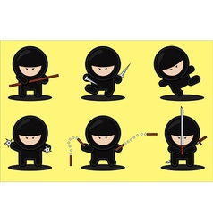 gang of ninjas vector image