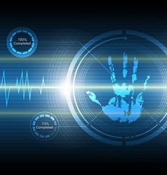 Scan handprint technology background vector