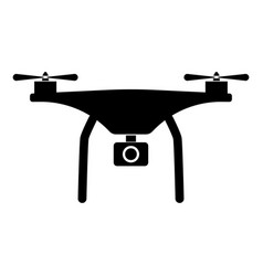Drone the black color icon vector