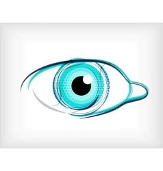 Lines eye concept vector