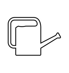 Thin line watering can icon vector