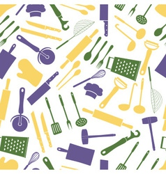 Home kitchen cooking utensils color pattern eps10 vector