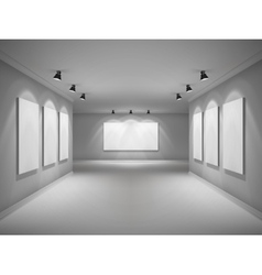 Gallery interior realistic vector
