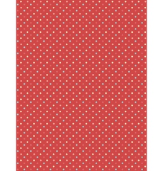 Seamless dot pattern multicolor dots on red vector