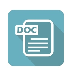 Square doc file icon vector