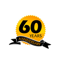 60 years ribbon anniversary vector image vector image