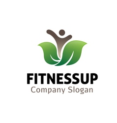 Fitness up design vector
