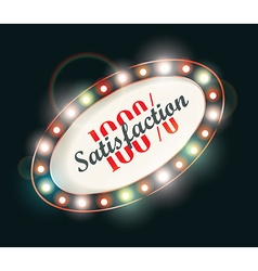 Abstract retro light sign 100 satisfaction vector
