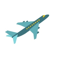 Passenger airplane icon vector