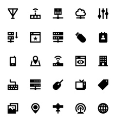 Internet networking and communication icons 2 vector