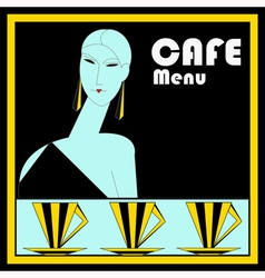 Art Deco Cafe Menu Template vector image vector image