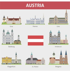 Austria set vector image