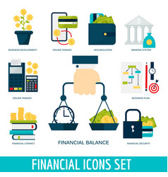 Banking money financial services set credit sign vector