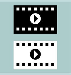 Black and white cinematographic ribbon icon vector