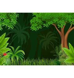 Cartoon of beautiful natural background vector image