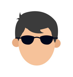 Character man male glasses image vector