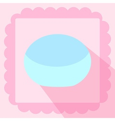 Cosmetic cream bottle flat icon on pink background vector