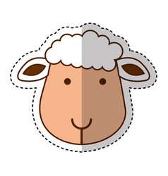 cute sheep manger character vector image