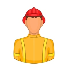 Firemen icon in cartoon style vector