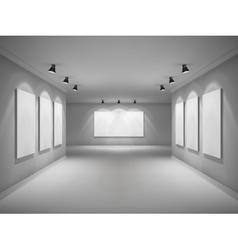 Gallery interior realistic vector