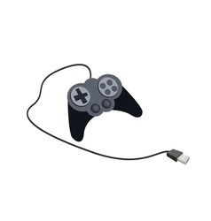 Joystick with Buttons on A White Background vector image