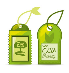 Label eco for the planet conservation vector