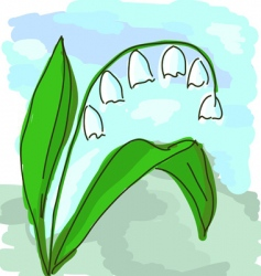 lily valley vector image vector image