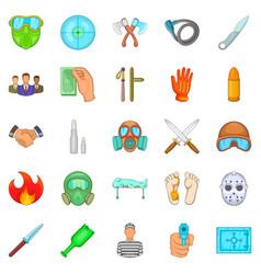 Misdeed icons set cartoon style vector