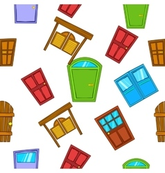 Opening door pattern cartoon style vector