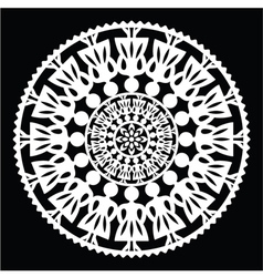 Polish traditional folk pattern in circle vector