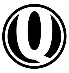 Round q logo vector
