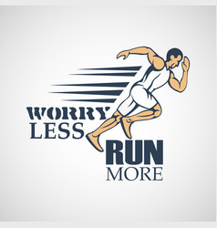 Run creative sport running motivation vector