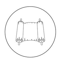 Tanakh icon in outline style isolated on white vector