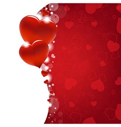 Valentines Day Card With Heart And Blur vector image vector image