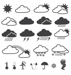 Weather Forecast Icons Collection vector image
