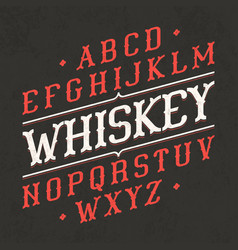 Whiskey style vintage font ideal for any design vector