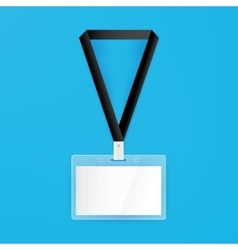 Name Badge Empty Mockup vector image