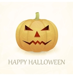 Vintage Halloween background with pumpkin vector image