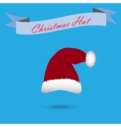 claus hat with fur vector image
