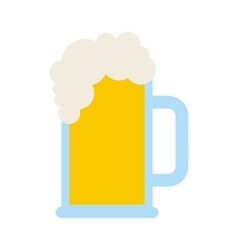 beer jar drink isolated icon vector image