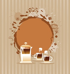 Abstract Background with Cup and Coffee Stain vector image
