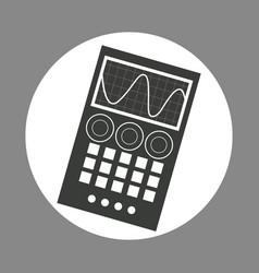 Laboratory device chemistry dark design vector