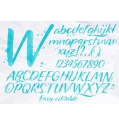 Modern alphabet blue color vector