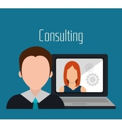 Business consulting graphic vector