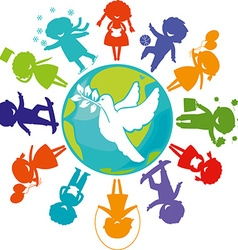 dove children world vector image