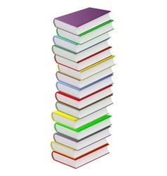 Multicolored books vector