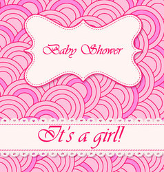 baby-shower-circle-pattern-girl vector image