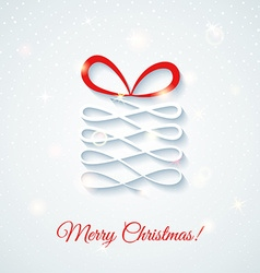 Festive card with gift box shine vector