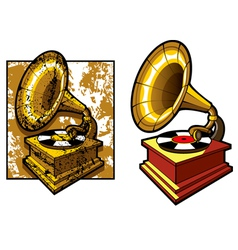 Old gramophone vector